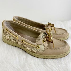 Sperry Top Sider Angelfish Gold Glitter Size 8
